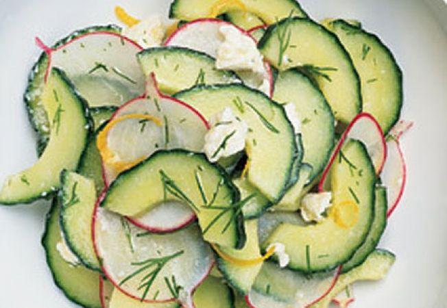 salata ridichi castraveti