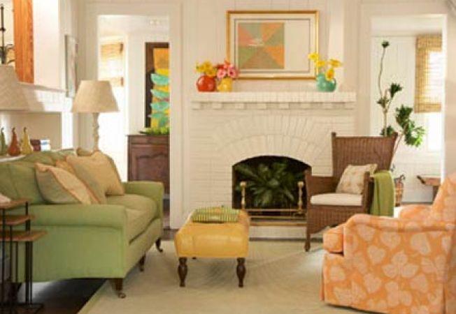 Combinatii de culori vesele pentru un decor relaxant