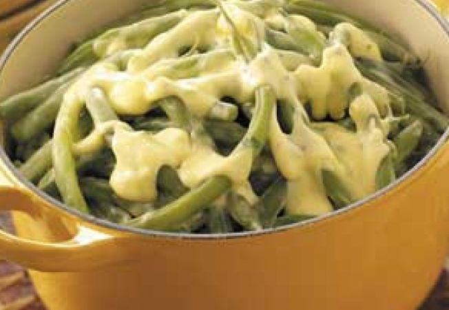 Fasole verde cu sos de lamaie