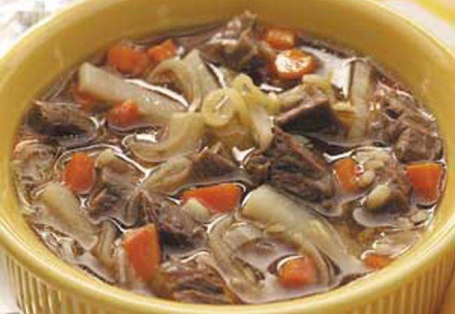 Ciorba de miel cu praz si morcovi