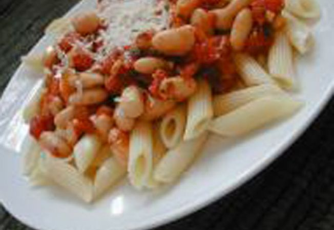 Paste Pomodoro cu fasole si masline