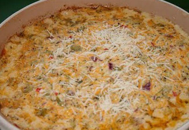 Mancare de broccoli si branza cheddar la cuptor