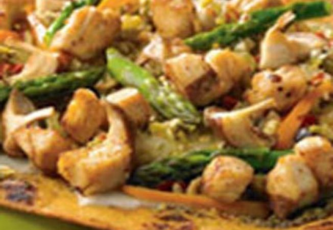 Reteta slow cooking: pui cu pere si sparanghel