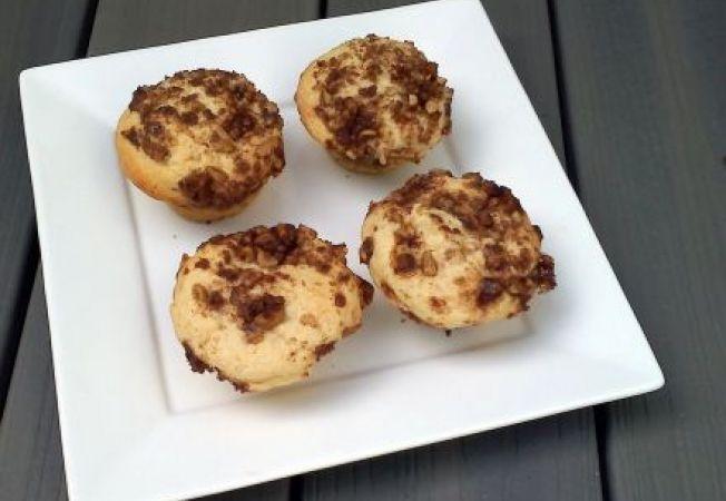 Muffins cu nuci si crema de cafea
