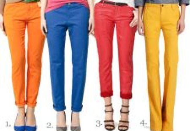 Cum alegi pantalonii colorati care sa te avantajeze