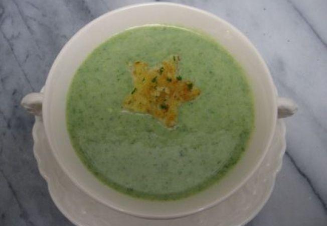 Supa crema de spanac, telina si cartofi