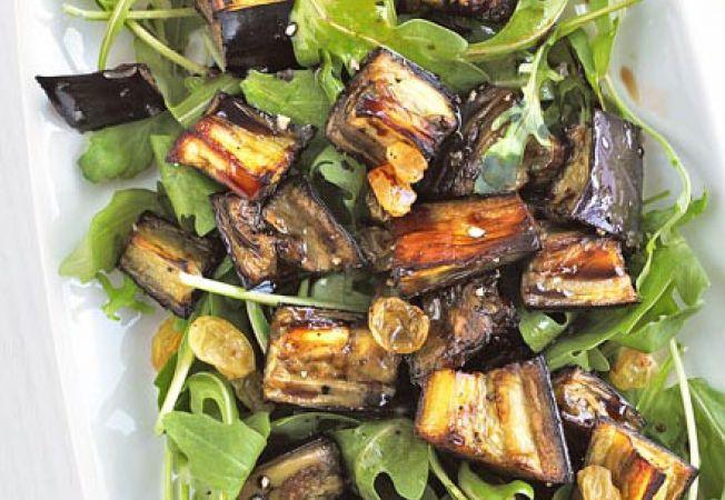 Salata de vinete marinate cu rucola