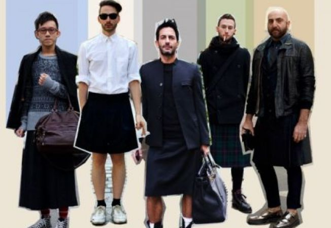 Barbati imbracati in fusta: un nou trend?