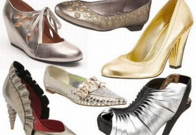 5 pantofi in nuante metalizate
