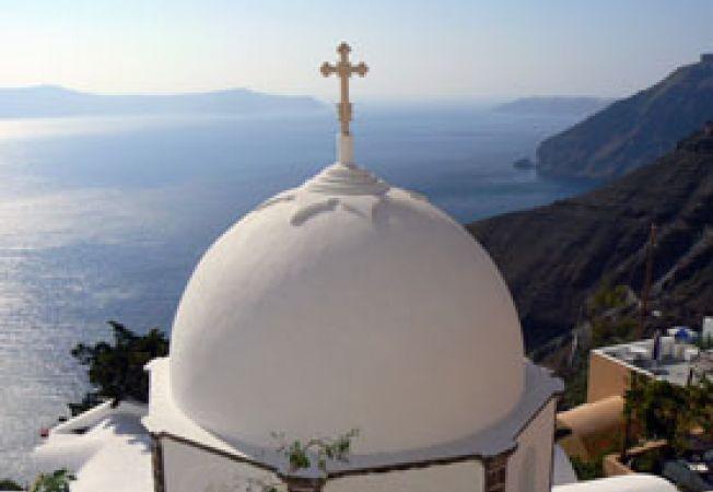 Santorini dom
