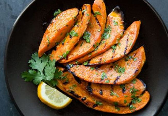 Cartofi dulci la gratar