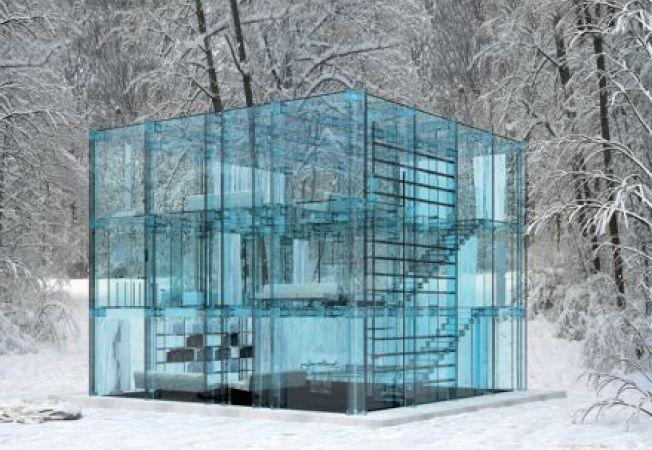 Case impresionante din sticla pentru gusturi excentrice