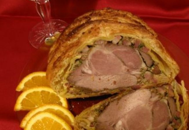 Ceafa de porc in foietaj