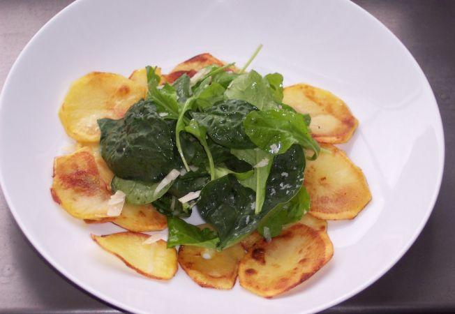 Salata de cartofi cu spanac