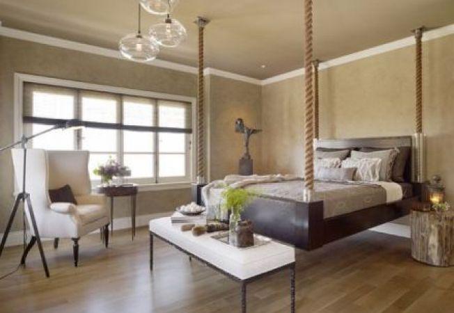 Paturi suspendate pentru dormitoare moderne si indraznete