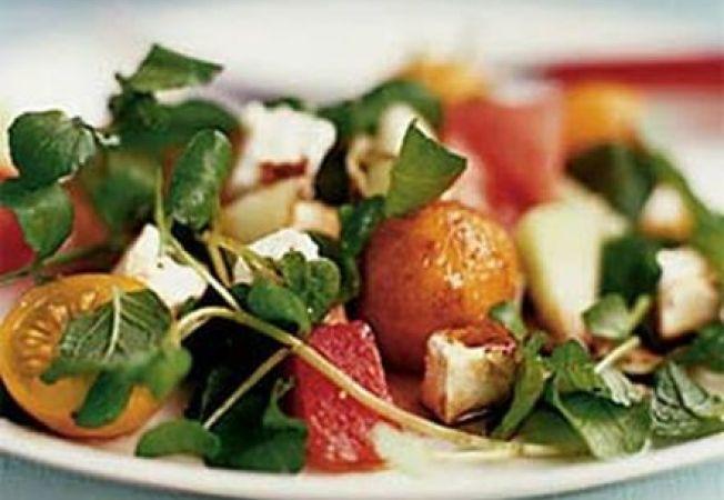 Salata de pepene verde cu menta si feta