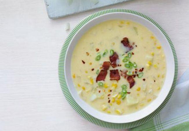 Supa-crema de porumb picanta