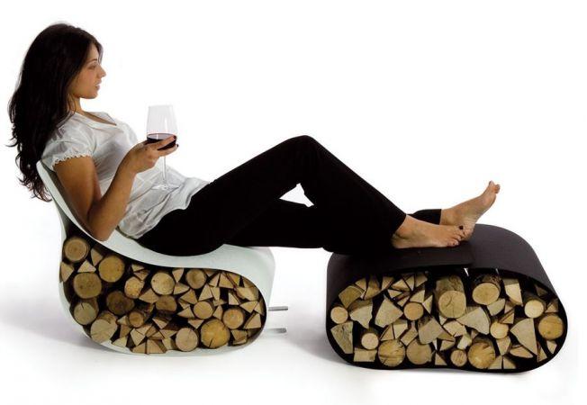 Idei moderne de depozitare a lemnelor de foc in casa