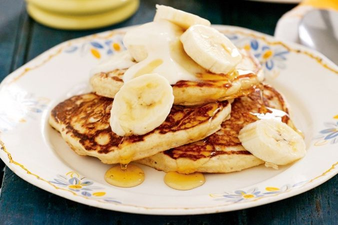 Clatite cu banane delicioase din faina integrala