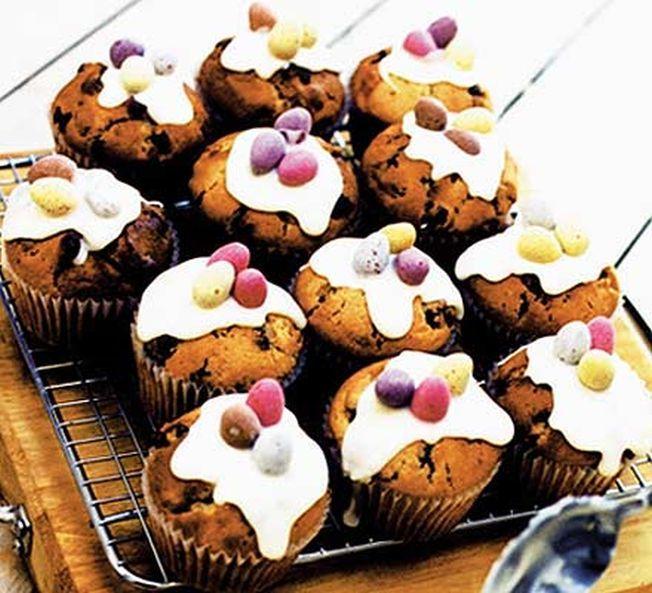 Muffins cu fructe uscate si martipan