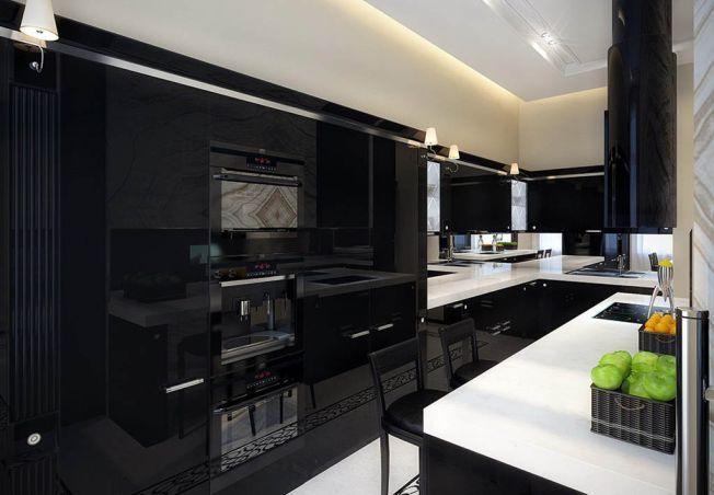 Ai indrazni sa introduci negrul in bucataria ta? 4 designuri pentru inspiratie