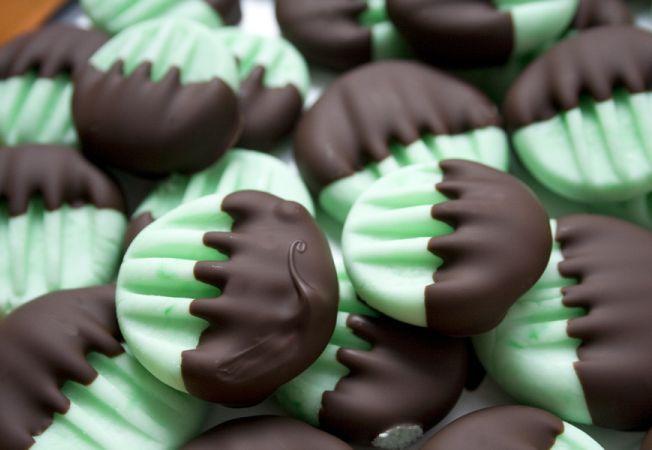 Fondante de menta cu ciocolata