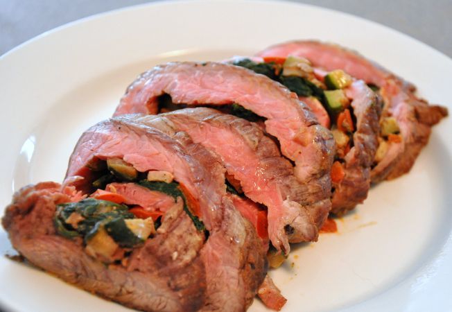 Dave Wendel's Flank Steak Roulade Recipe — Dishmaps