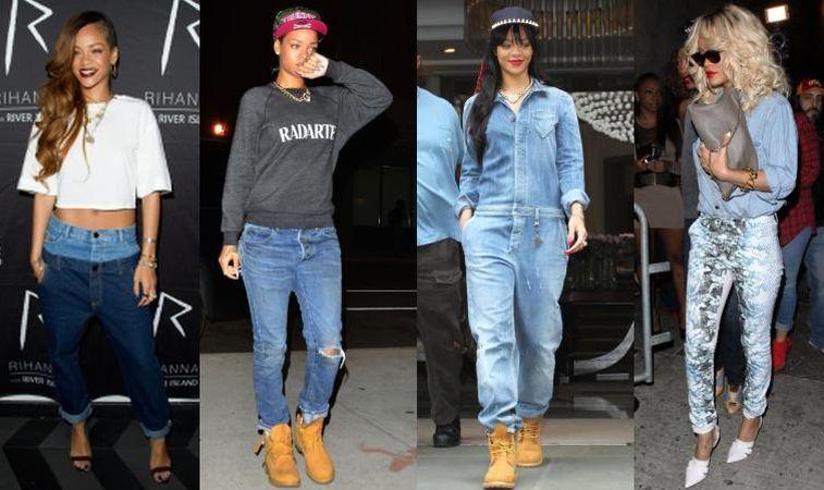 Invata de la Rihanna cum sa porti jeansii cat mai cool
