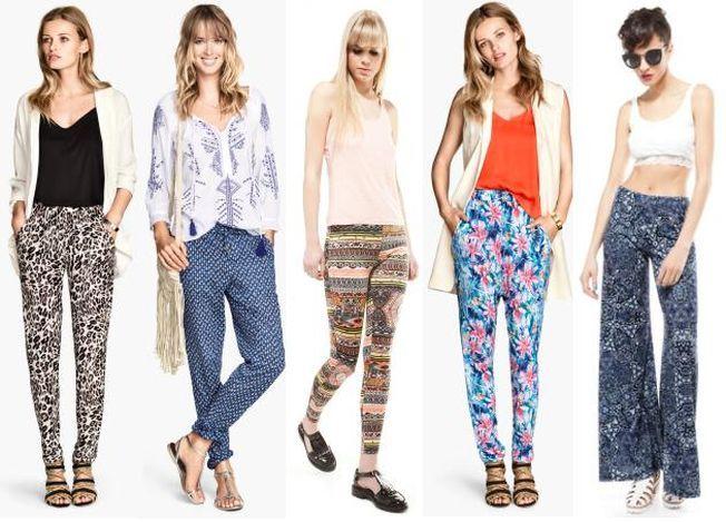 5 modele de pantaloni cu imprimeu sub 100 de lei