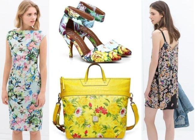Hainele si accesoriile inflorate, trendul verii 2014