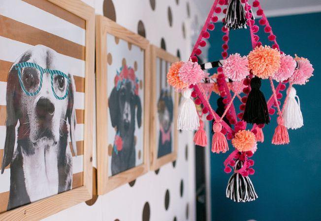 8 moduri ingenioase de a decora casa cu pompoane