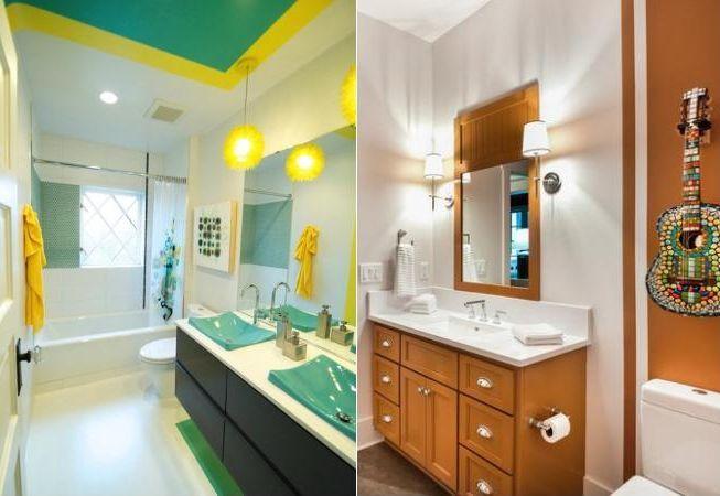 6 culori indraznete pentru baie