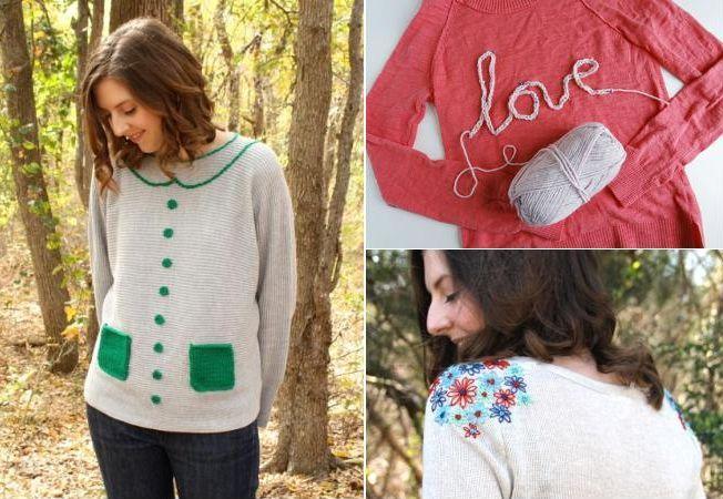4 aplicatii care transforma rapid puloverele vechi