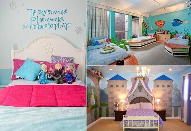 6 dormitoare pentru copii inspirate din povestile Disney