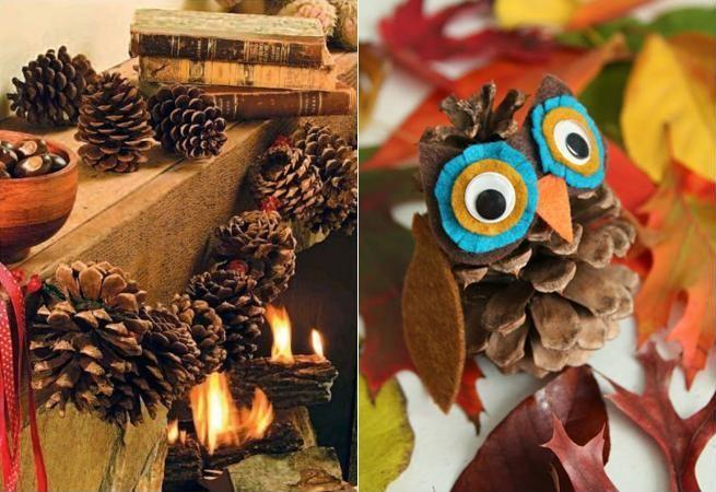 7 ornamente simplu de facut din conuri de brad