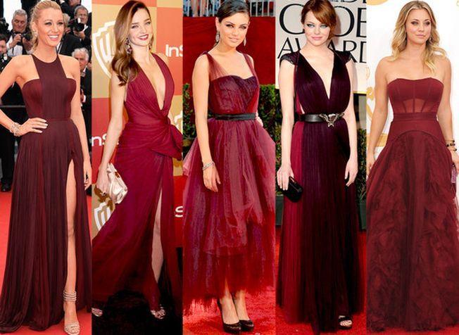 7 celebritati care au purtat deja marsala, culoarea lui 2015