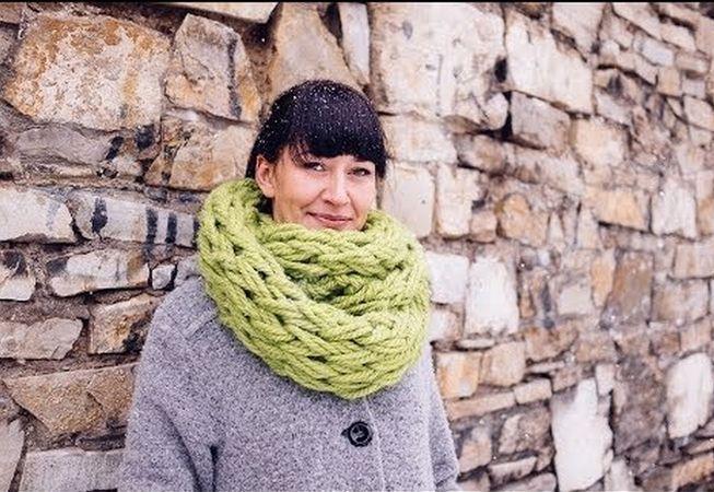 Cum sa tricotezi un fular fara andrele