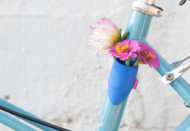 vaze flori bicicleta