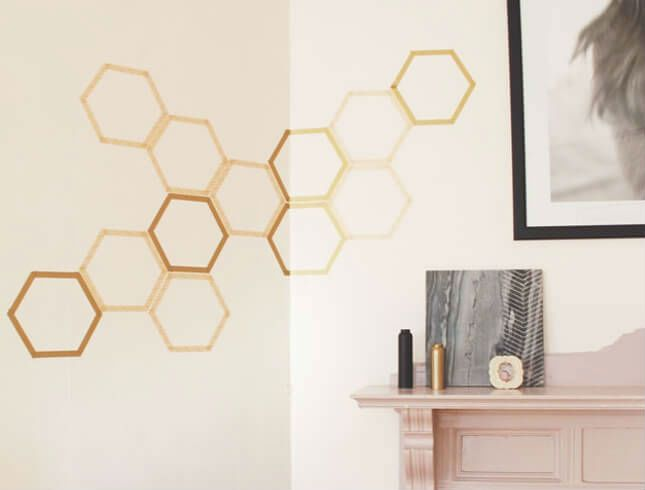 decor geometric pereti