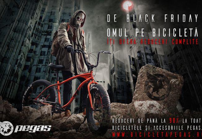 """""""Omul pe bicicleta"""" Pegas"""
