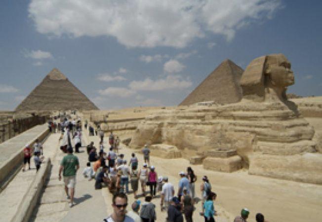 grup turisti Sfinx, Egipt