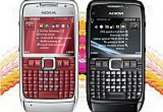 Nokia E71 rosu si negru