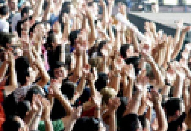 multime, public, concert, festival