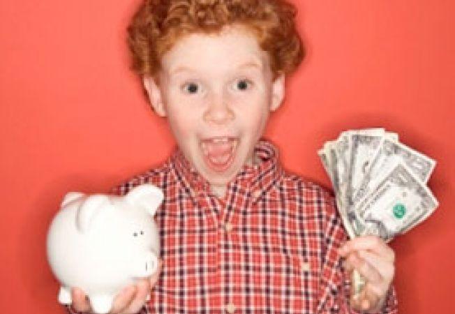 Copil si bani