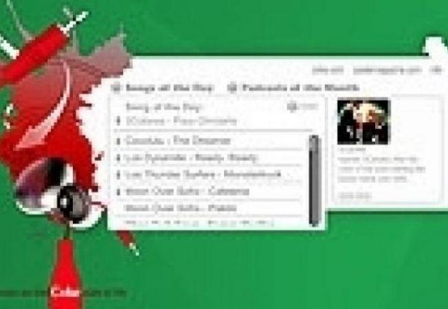 Coca-Cola music widget