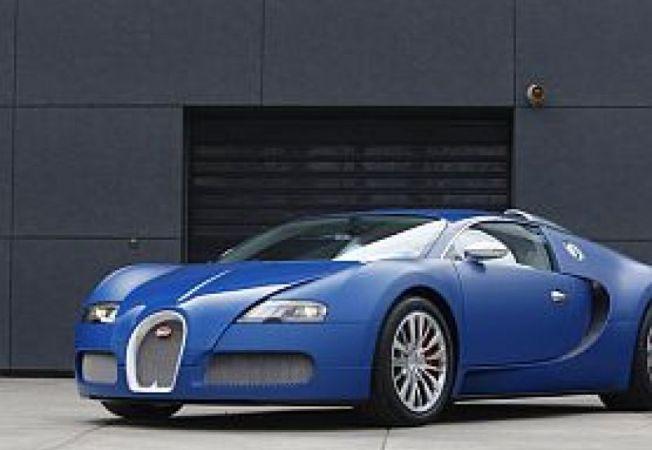 Bugatti Veyron Blue Centenaire