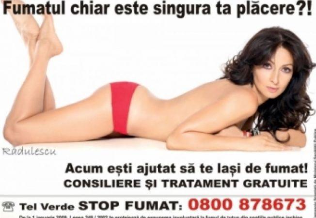Mihaela Radulescu anti-fumat