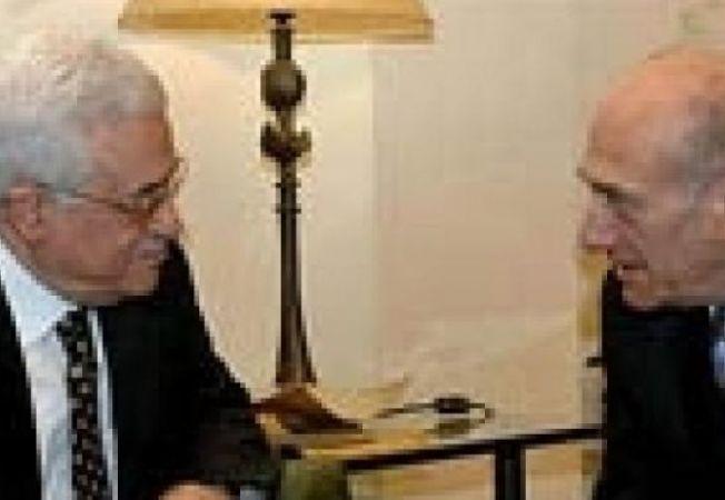 Ehud Olmert Mahmoud Abbas