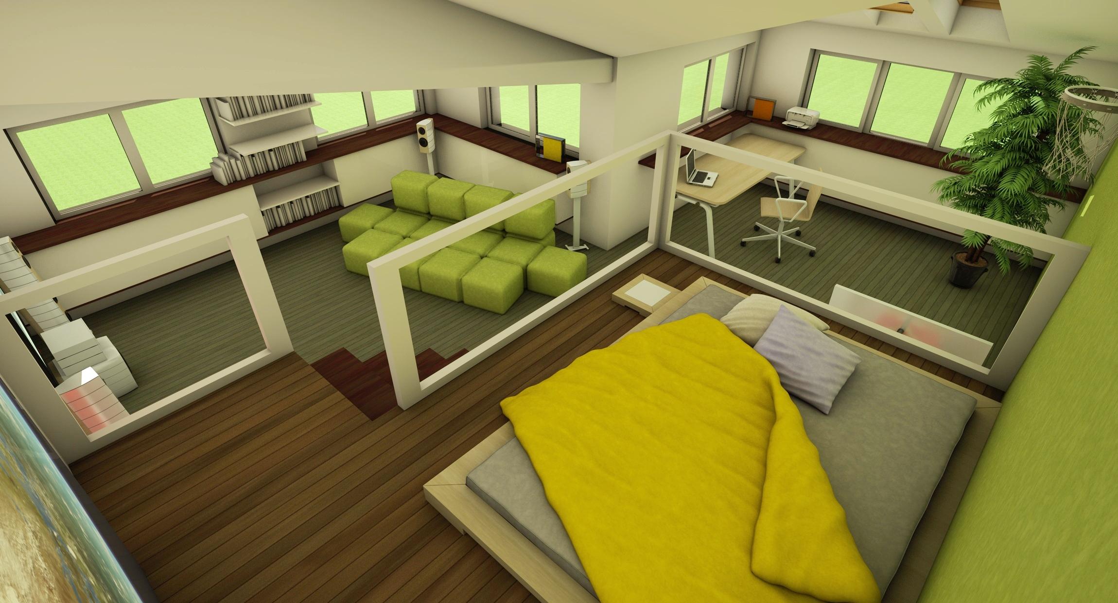 Mansarda - camera ideala pentru adolescenti