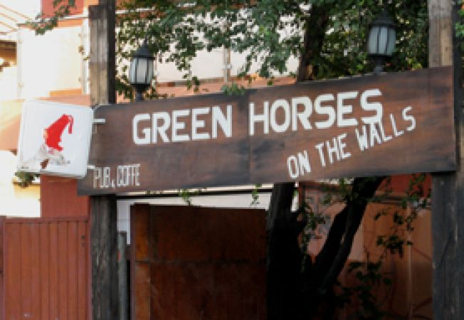 Green Horses on The Wall